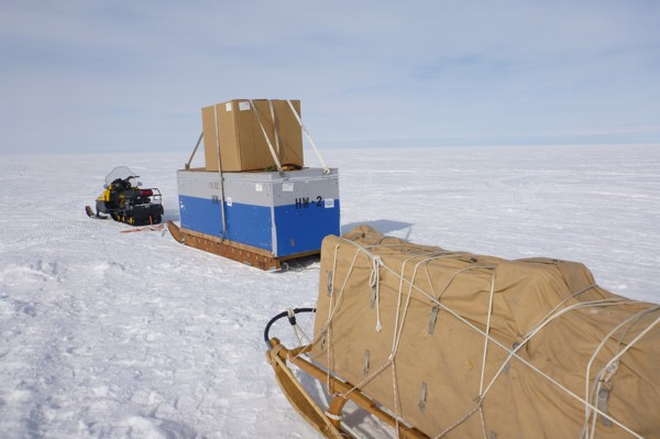 Skidoo traverse from Subglacial Lake Whillans to the grounding line of Whillans Ice Stream c. Rory Hart 2011-2012