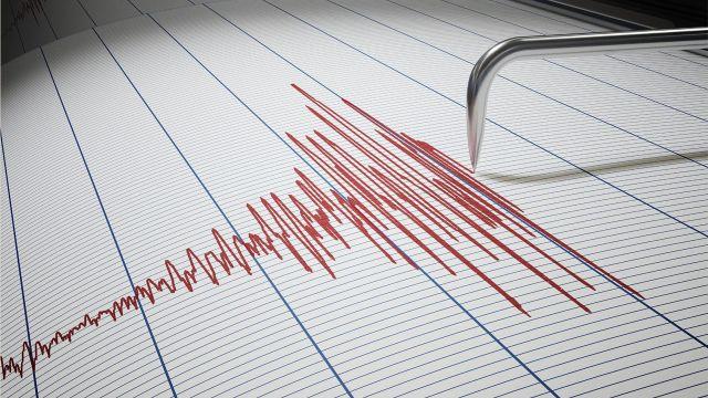 A seismometer measuring an earthquake
