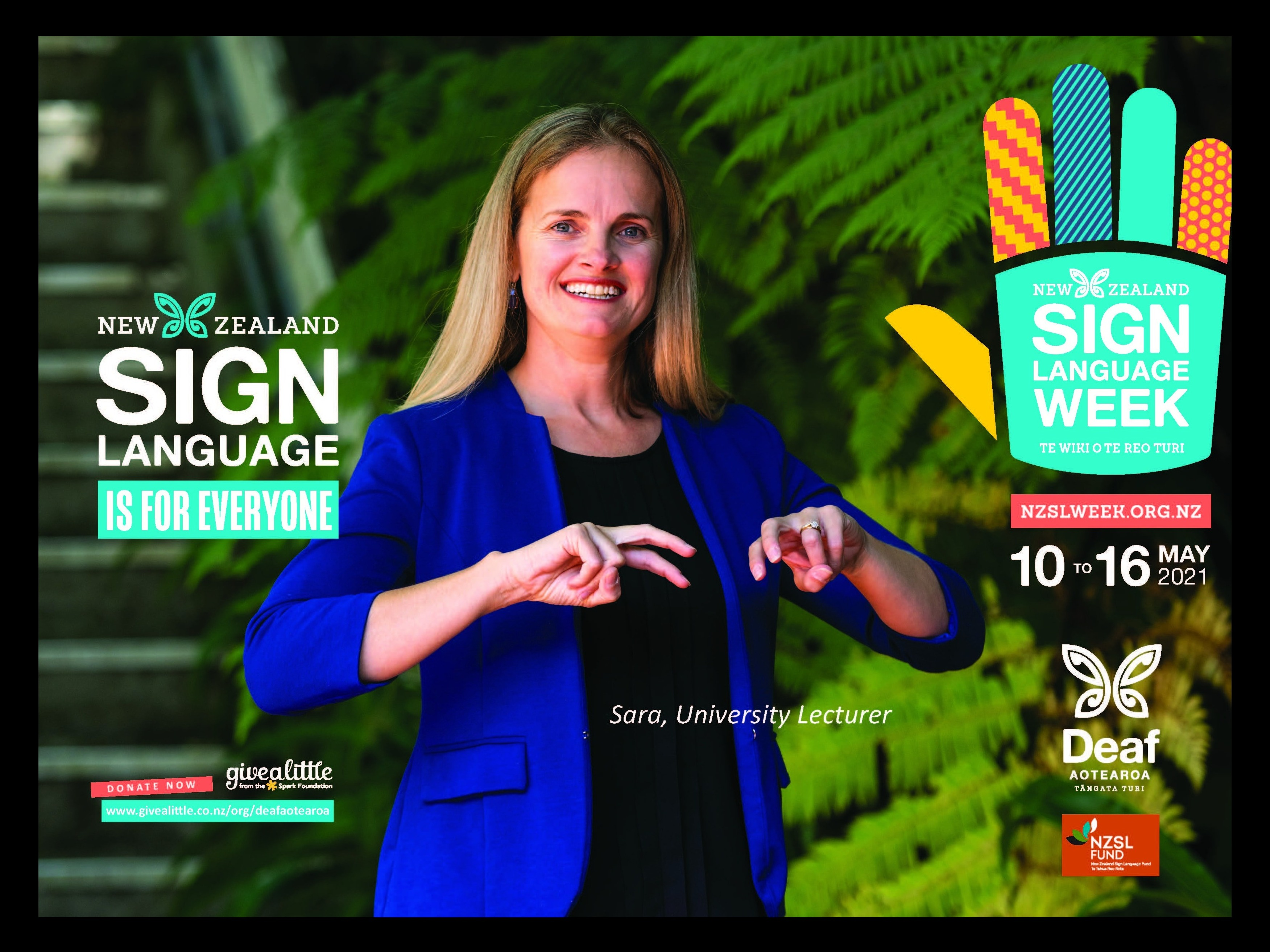 Flyer advertising NZSL week