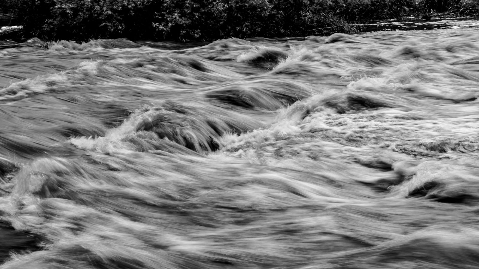 Grayscale photo of water waves