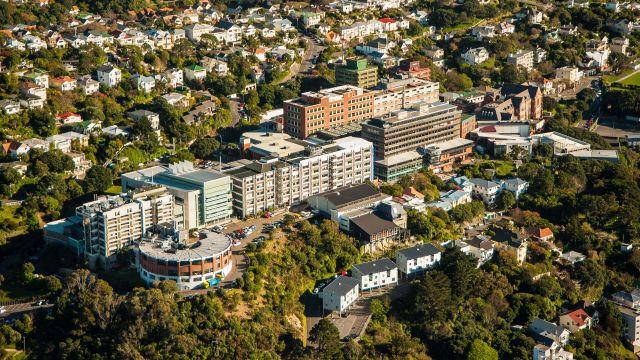 Aerial view of Kelburn Campus