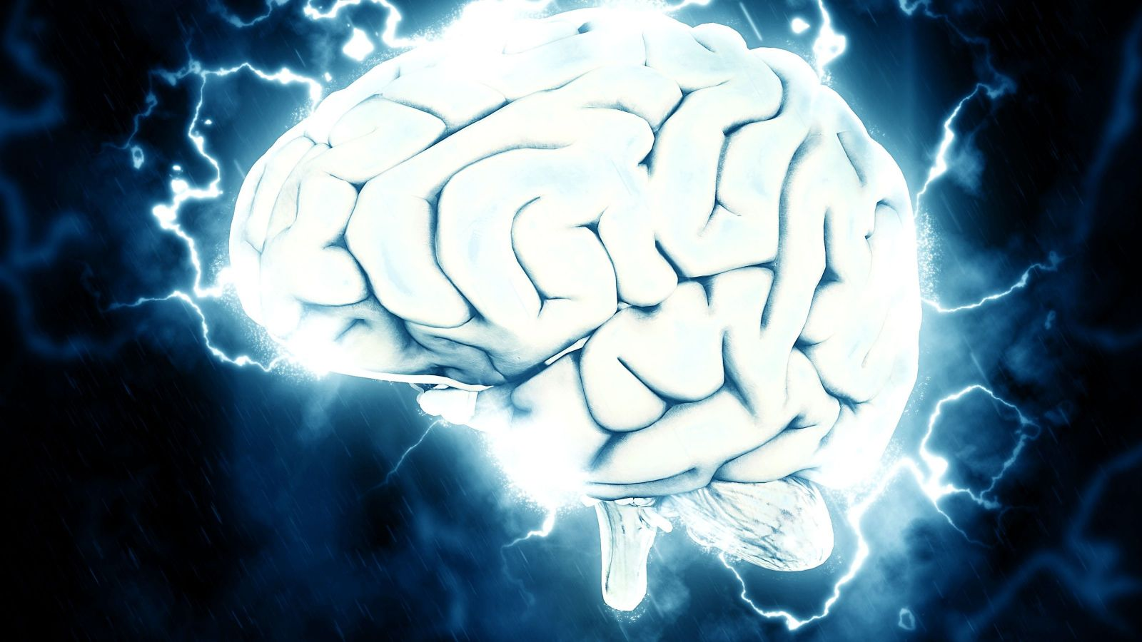 brain with electrical storm