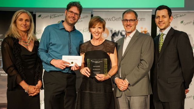 Sustainability team accept green gown award