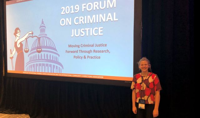 Olivia Hyland at the Forum on Criminal Justice