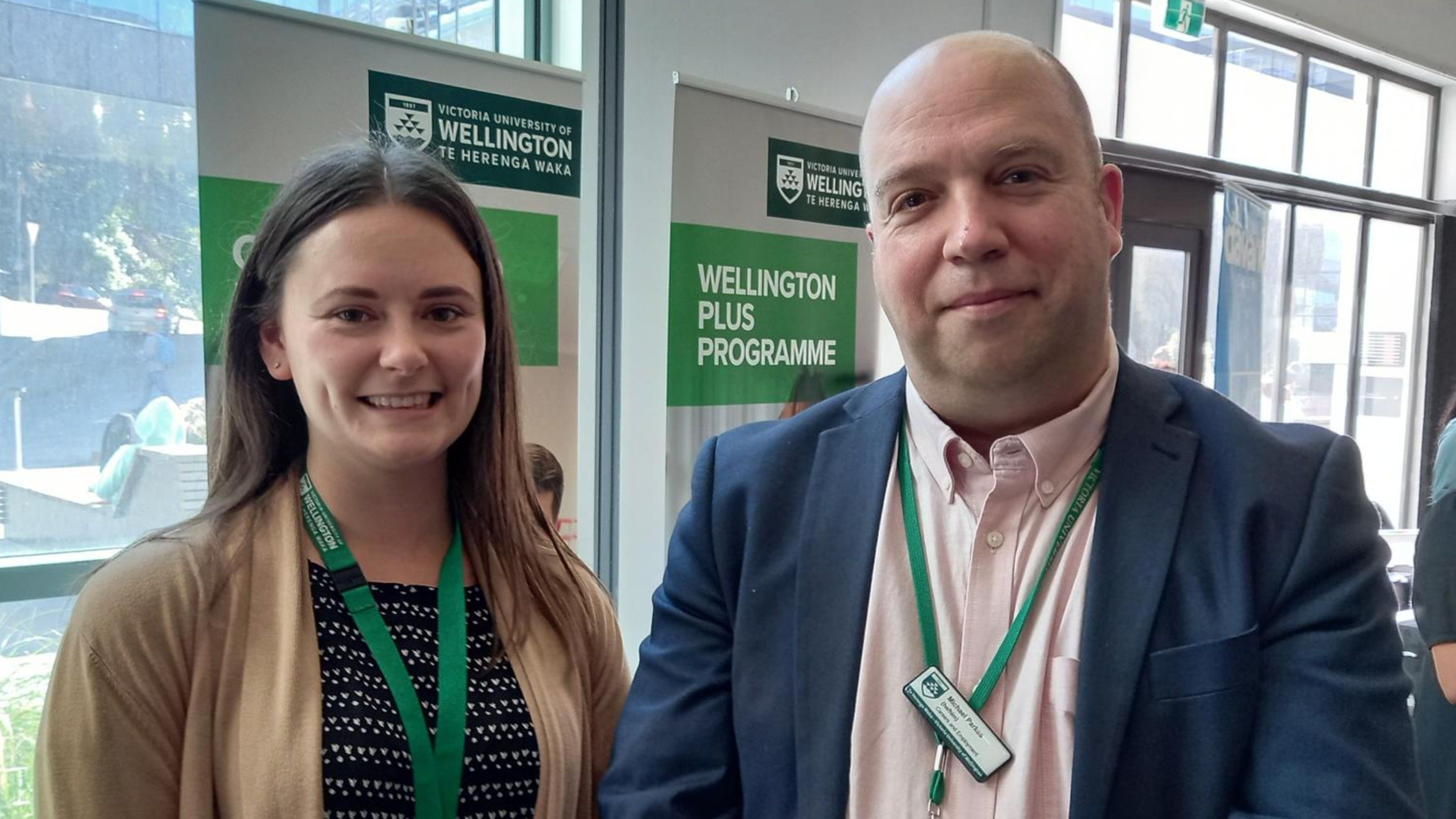 Rhiannon Robinson and Michael Parkes in the Employment Relations team.