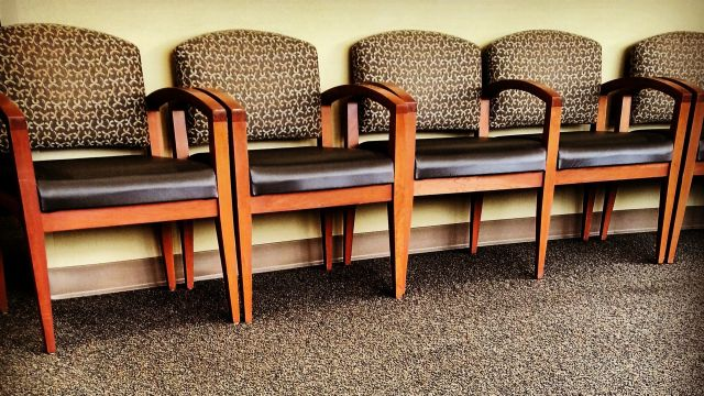 Chairs in a doctor's waiting room