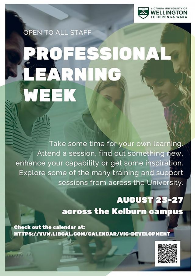 Poster for Professional Learning Week 2021