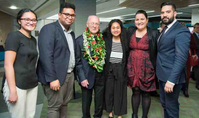Professor Tony Angelo QC with some of his current and former students