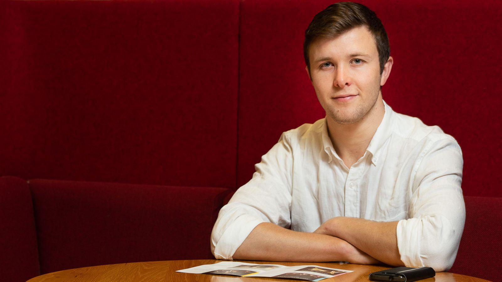 on location photo of PhD candidate Daniel Wegerhoff