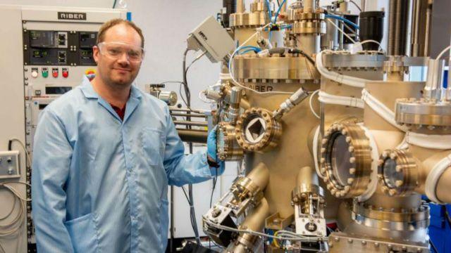 Simon Granville with machine