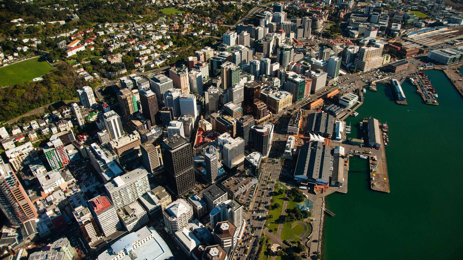 An aerial view of Wellington.
