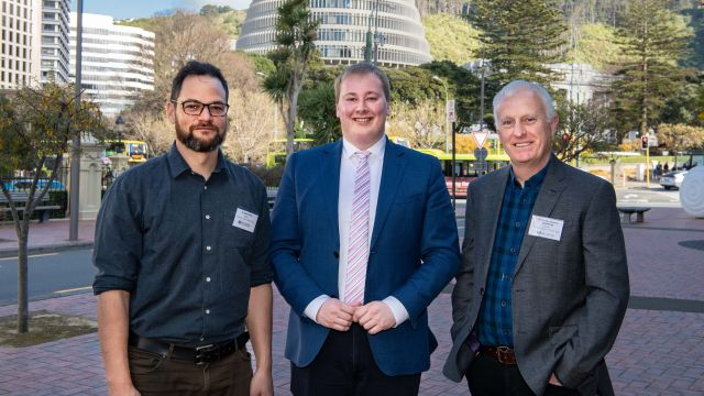 Dr Jesse Pirini, Brad Olsen, and Professor Stephen Cummings