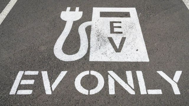 An EV parking space