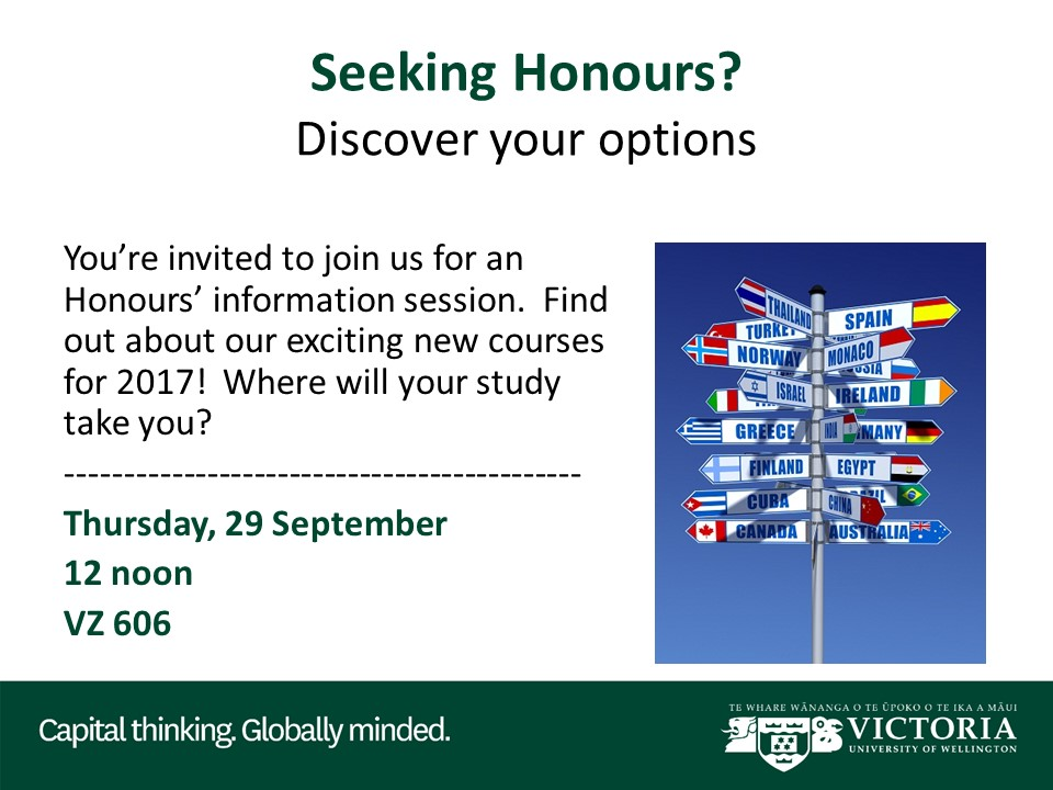 Honours Info Session poster