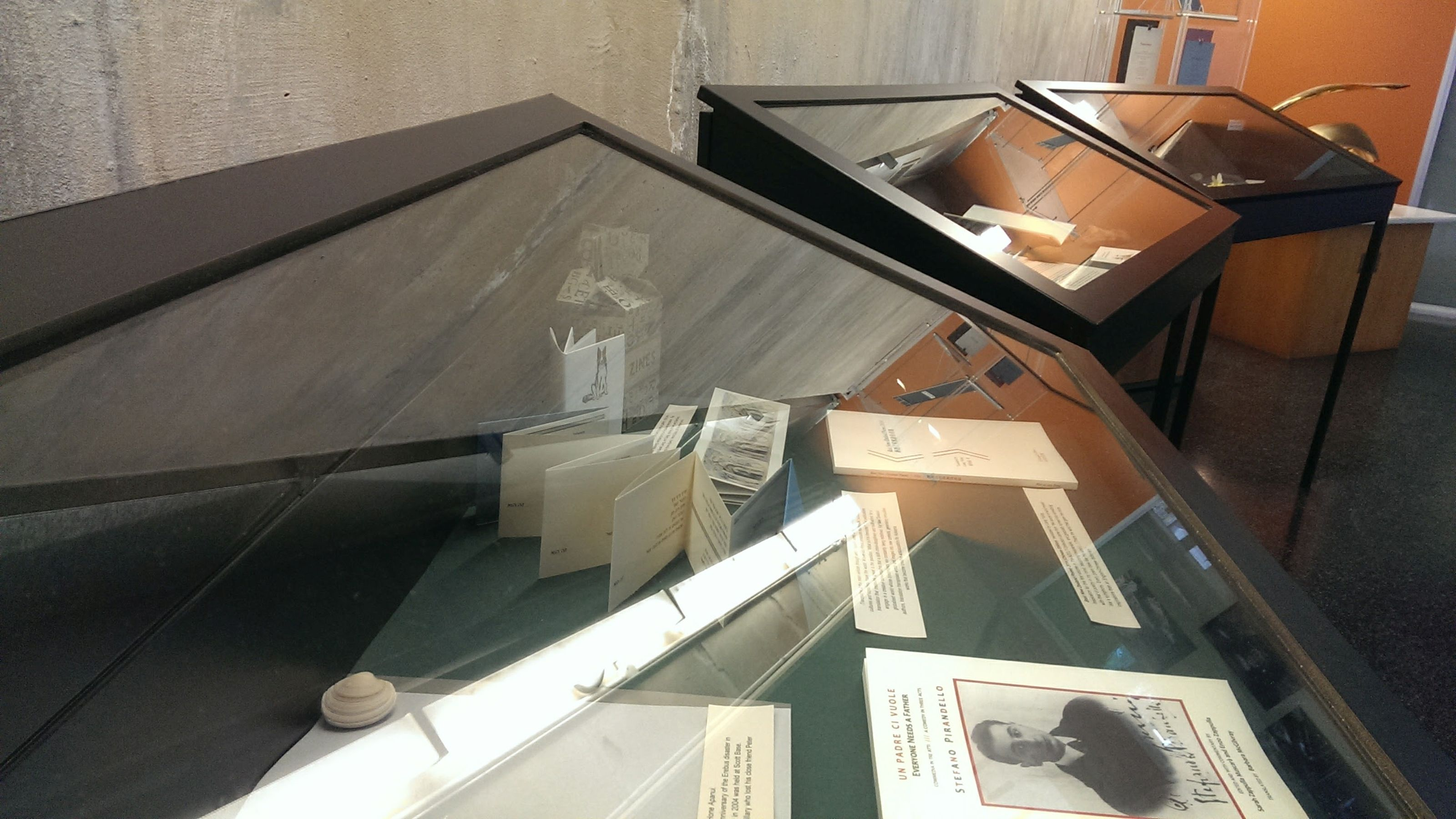 The innovative publications in translation part of the Borderlands exhibition.