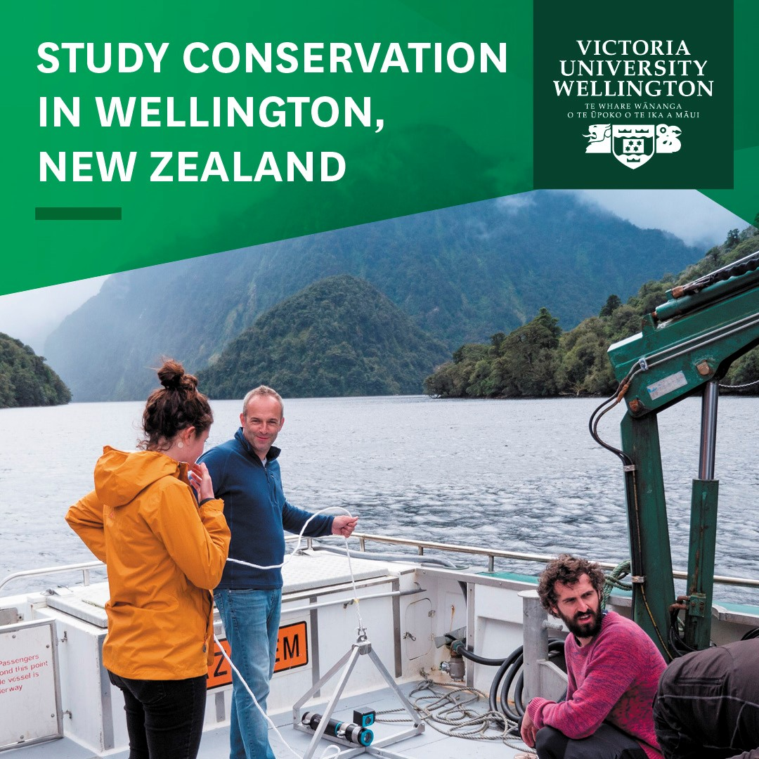 advert for conservation biology at VUW
