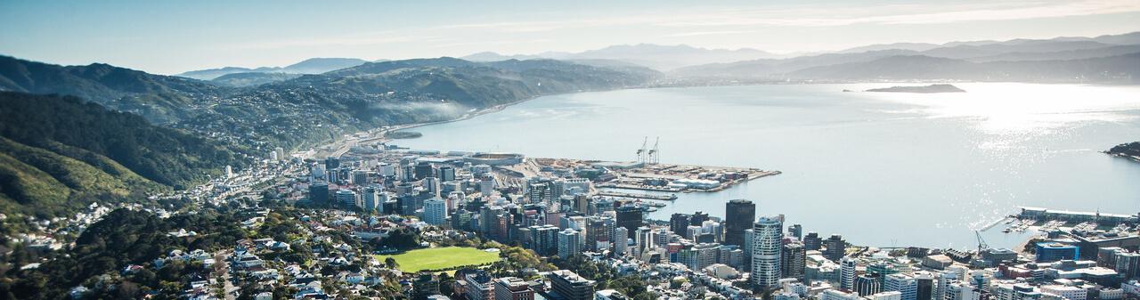 Aerial photo of Wellington.