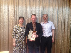 AProf Daniel Laufer and Professors Yang and Wei from Jinan University
