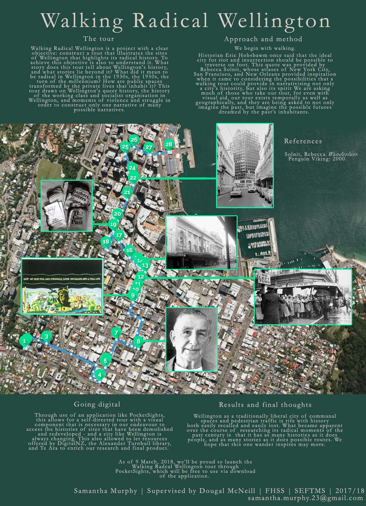 Poster highlighting the radical history of Wellington