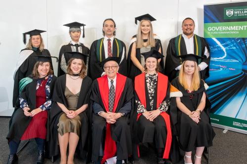 Girol Karacaoglu with 2021 May graduates of School of Government