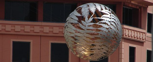 Fern globe, Civic Square, Wellington