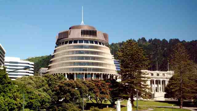 Wellington's parliament building The Beehive