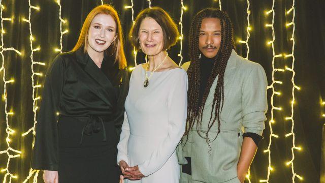 Kirsten Nagel, Professor Jennifer Windsor, and Adrian Williams at the Wellington Gold Awards