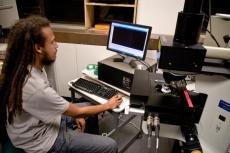 Rufus using the T64000 microscope