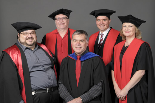 Professor Sid Huff and his PhD 'family'